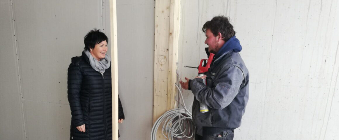 Bauleiterin Daniela Hendl im Gespräch