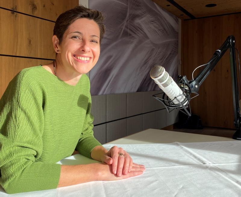 Natalie Plank - moderiert die Gehmeditation